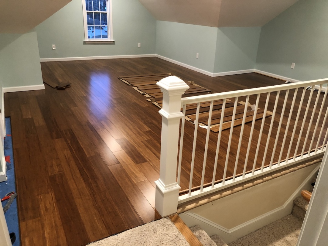 a finished attic with beautiful trim